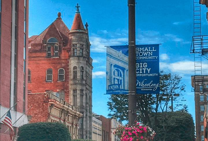 downtown Wheeling banner