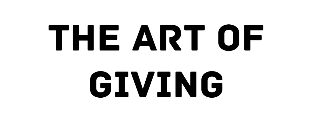 Art of Giving_Text